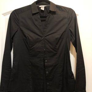 New H&M Black button down top size 6